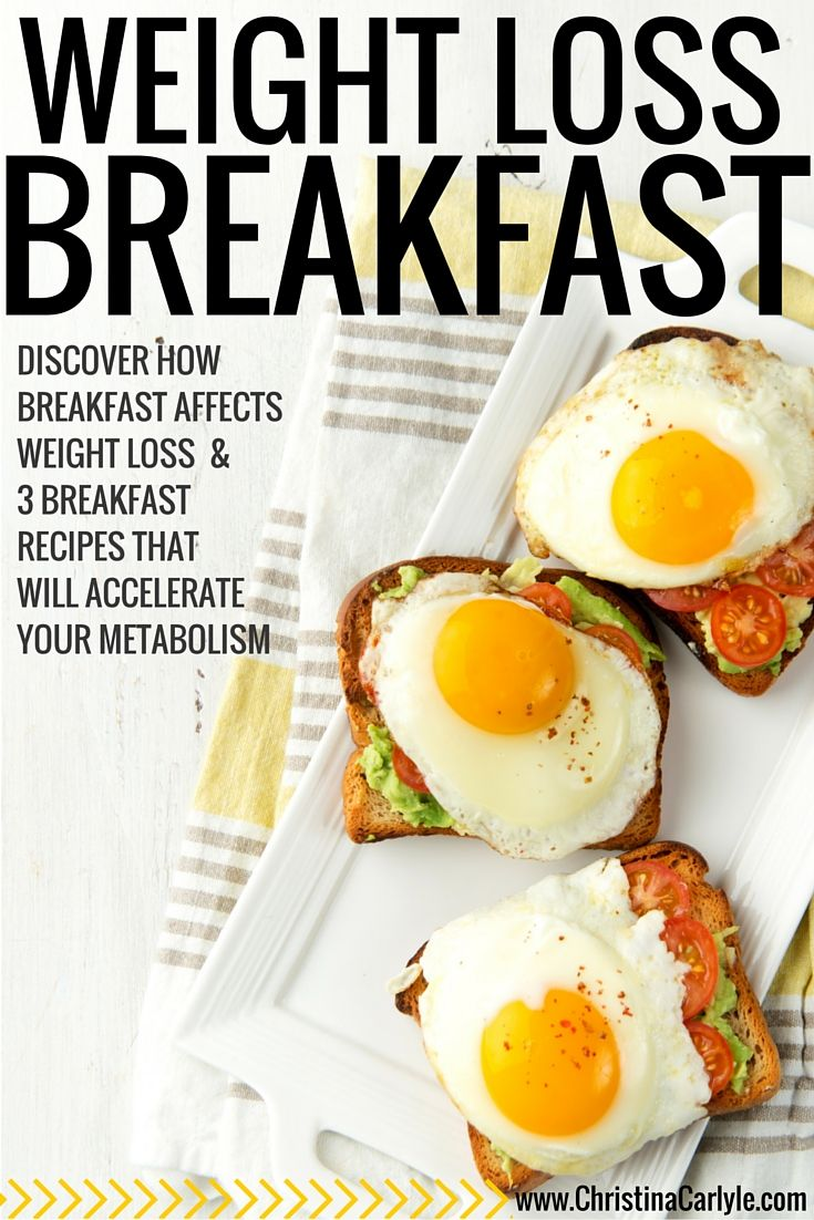 Weight Loss Breakfast Christina Carlyle