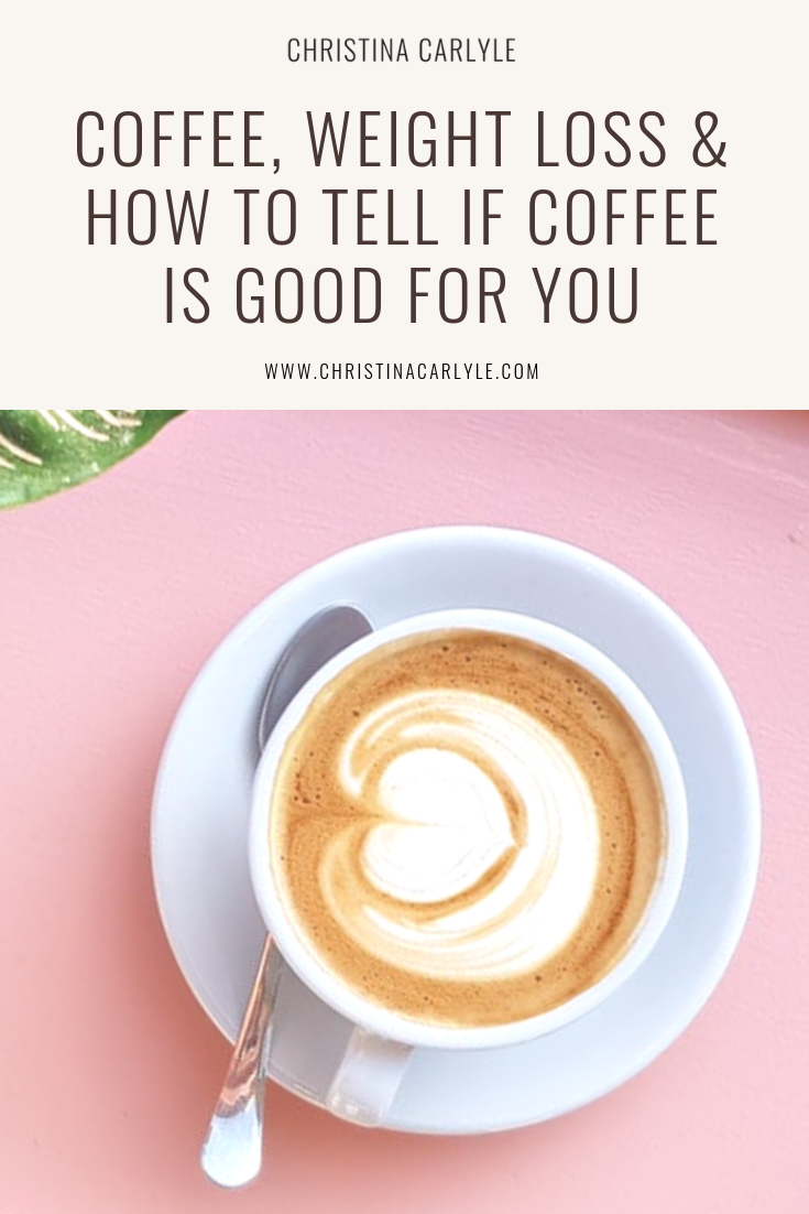 Is coffee good for you pinterest graphic