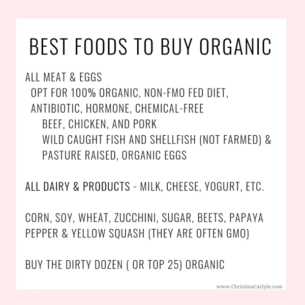 List of Foods to Buy Organic