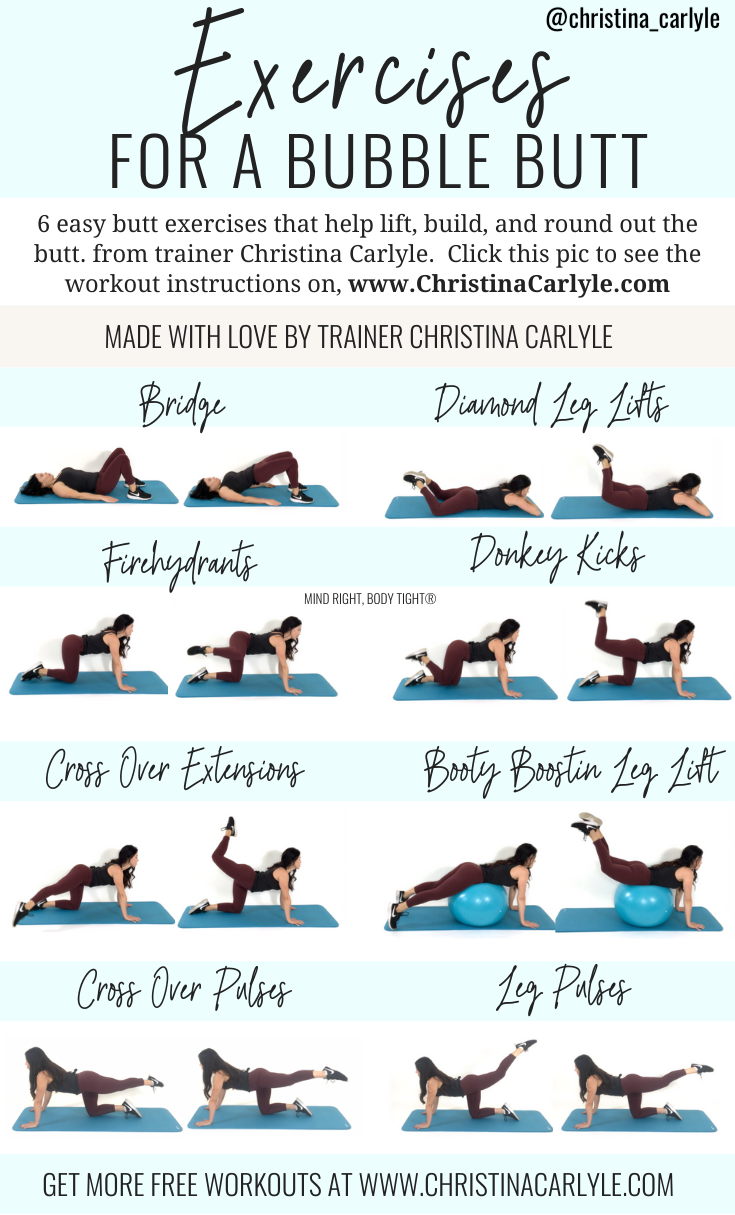 Butt Exercises being done by trainer Christina Carlyle