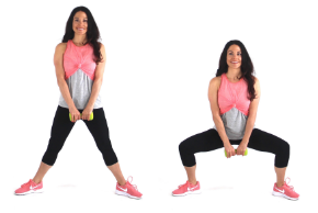 Plie Squat Exercise being done by trainer Christina Carlyle