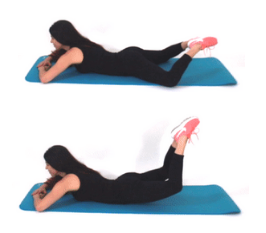 Diamond Leg Lift anti cellulite exercise being done by Christina Carlyle