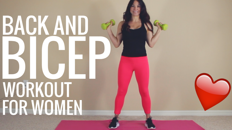 Back and Bicep - workout for women copy