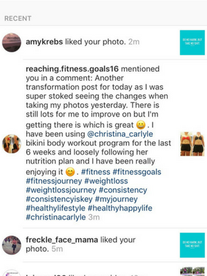 Total IG Transformation Challenge Results - Christina Carlyle