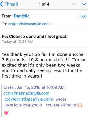 Total Transformation Testimonial - Christina Carlyle - Danielle