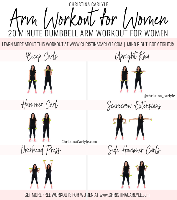 Arm Workout for Women being done by Trainer Christina Carlyle