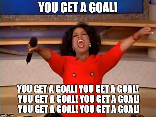 Motivational Goal Setting Oprah meme