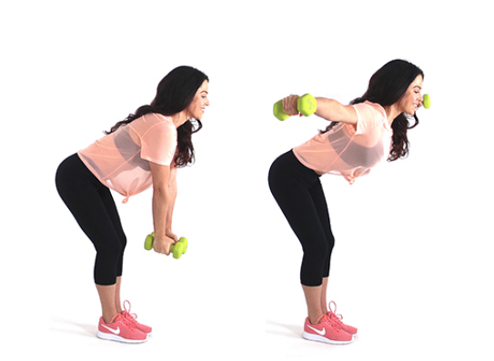 Fat Burning Back Fly Exercise being done by trainer Christina Carlyle