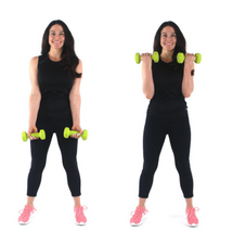 Bicep Curl Beginner Arm Exercise done by Christina Carlyle