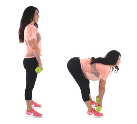 Fat Burning Deadlift Exercise being done by trainer Christina Carlyle