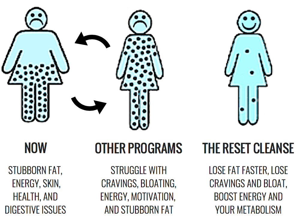 Christina Carlyle Reset Cleanse infographic about how the detox works