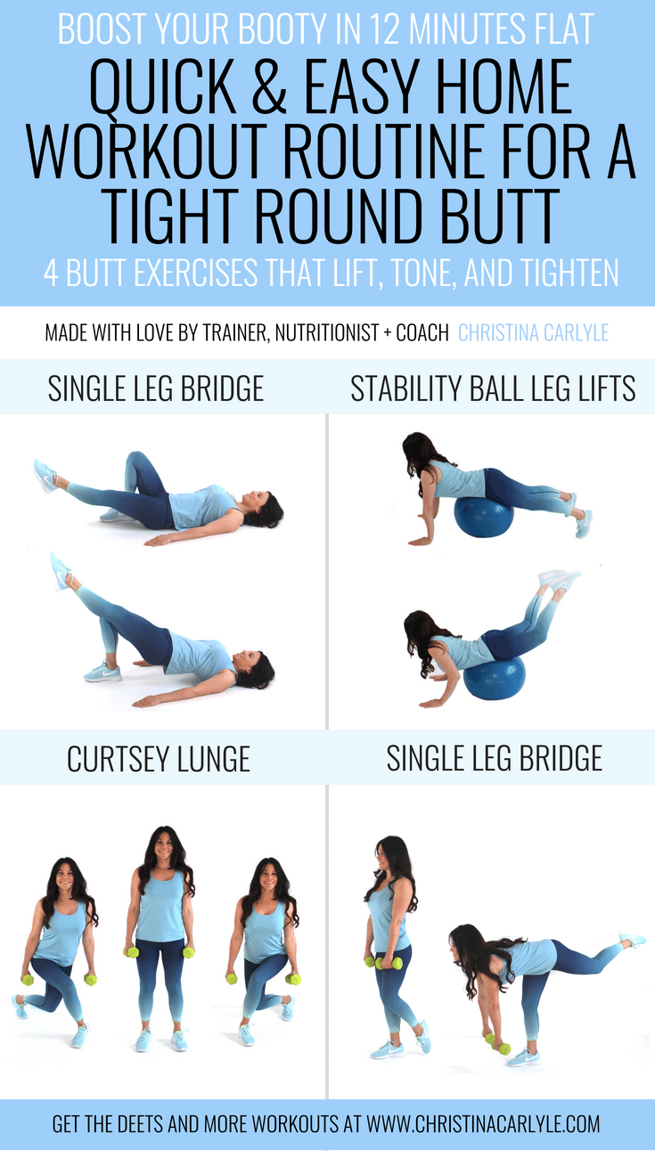 This Quick And Easy Home Workout Routine Has 4 Aerobic Butt Exercises That Will Help You