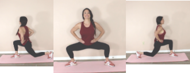 Leg Kill HIIT Bodyweight Exercise being done by Christina Carlyle