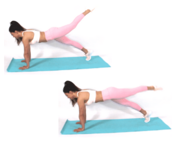 Circle Toe Plank Exercise done by Christina Carlyle