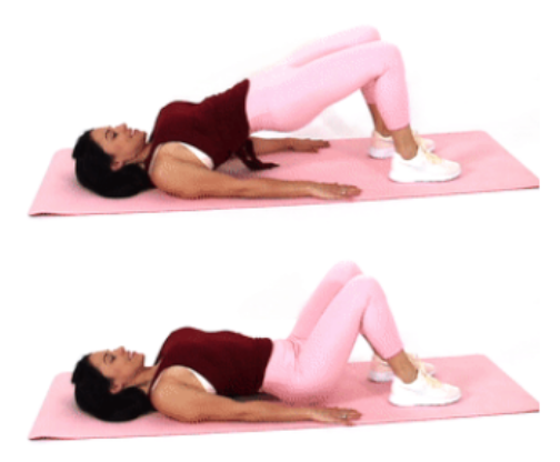 Bridge Exercise butts and guts exercise done by Christina Carlyle