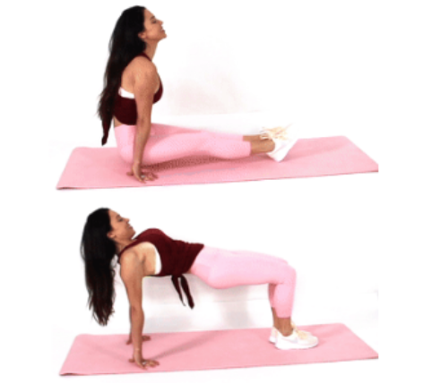 Sit Through Glute and core Exercise done by Christina Carlyle