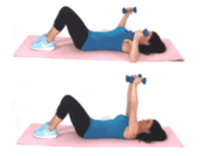 Chest Fly Dumbbell Arm Exercise done by Christina Carlyle