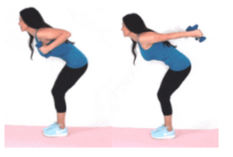 Tricep Kickback Dumbbell Arm Exercise done by Christina Carlyle