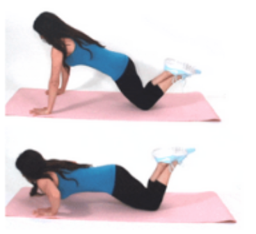 Tricep Pushup Arm Exercise done by Christina Carlyle