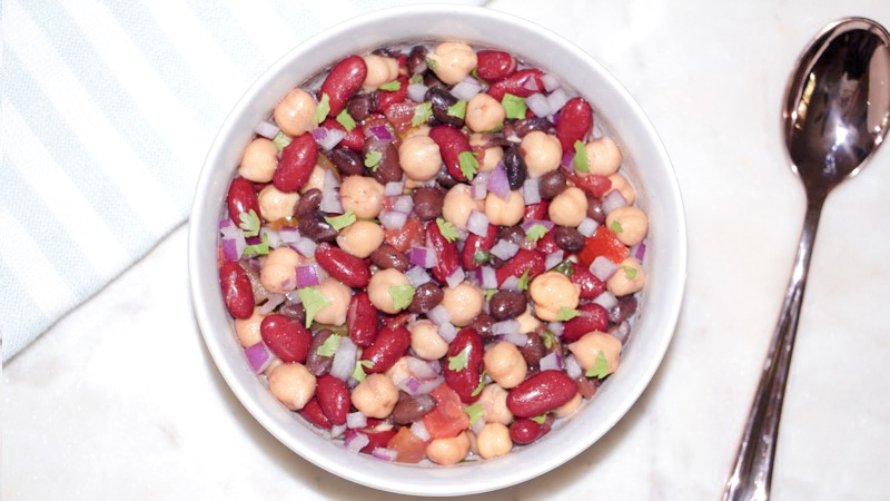 Super Easy Detox Cowboy Caviar 3 Bean Salad