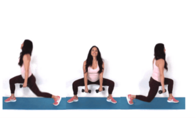 Lean Leg Lunge HIIT Exercise done by Trainer Christina Carlyle