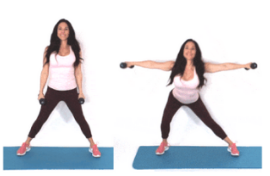 Side Lunge + Extension HIIT Exercise done by Christina Carlyle