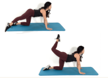 Cross over extensions Butt Exercises being done by Christina Carlyle