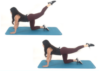 Leg Lift Pulse Exercise being done by Christina Carlyle