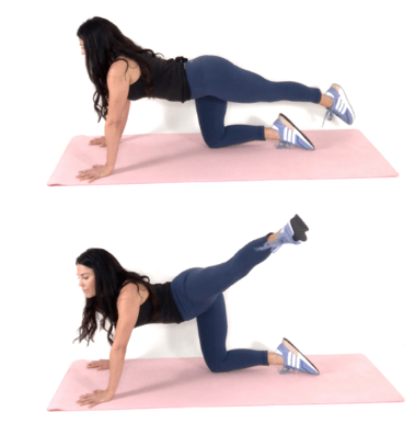 crossover extensions Hip Dip Exercise being done by Christina Carlyle