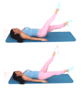 Flutter Kick Exercise done by Christina Carlyle