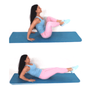 Tuck Crunch Exercise done by Christina Carlyle