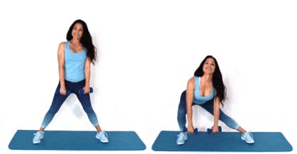 Side Lunge Exercise being done by Christina Carlyle