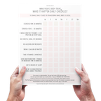 a photo of the Mind Right Body Tight program checklist by Christina Carlyle