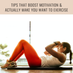 A woman working out and text that says fitness motivation 20 tips that make it easy to want to workout