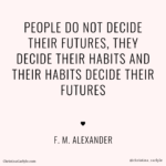 habits decide futures weight loss motivational quote