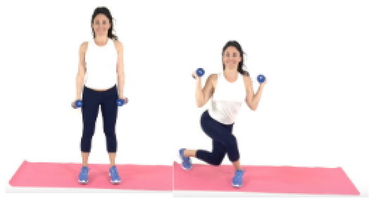Curtsey Curl HIIT Exercise being done by Trainer Christina Carlyle