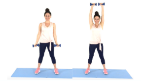 Christina Carlyle doing an Around the World Arm Exercise