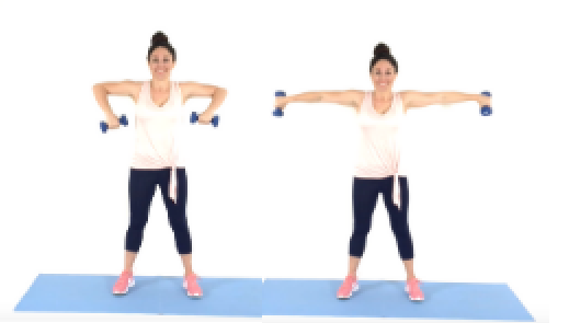 Christina Carlyle doing a Scarecrow Extension Arm Exercise