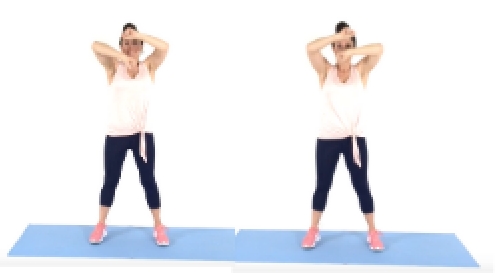 Christina Carlyle doing the Speedbag Arm Exercise