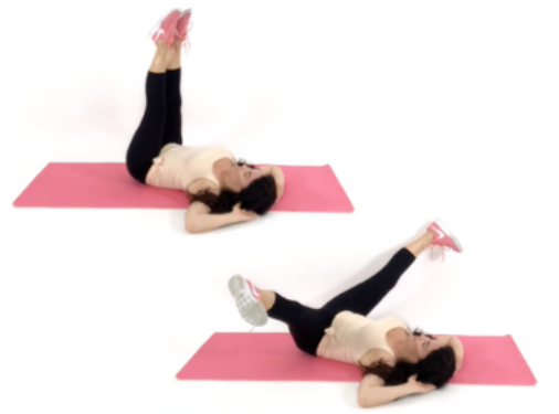 Inner Thigh Extension Exercise being done by Christina Carlyle