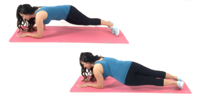 Hip Dip Ab Exercise being done by Trainer Christina Carlyle